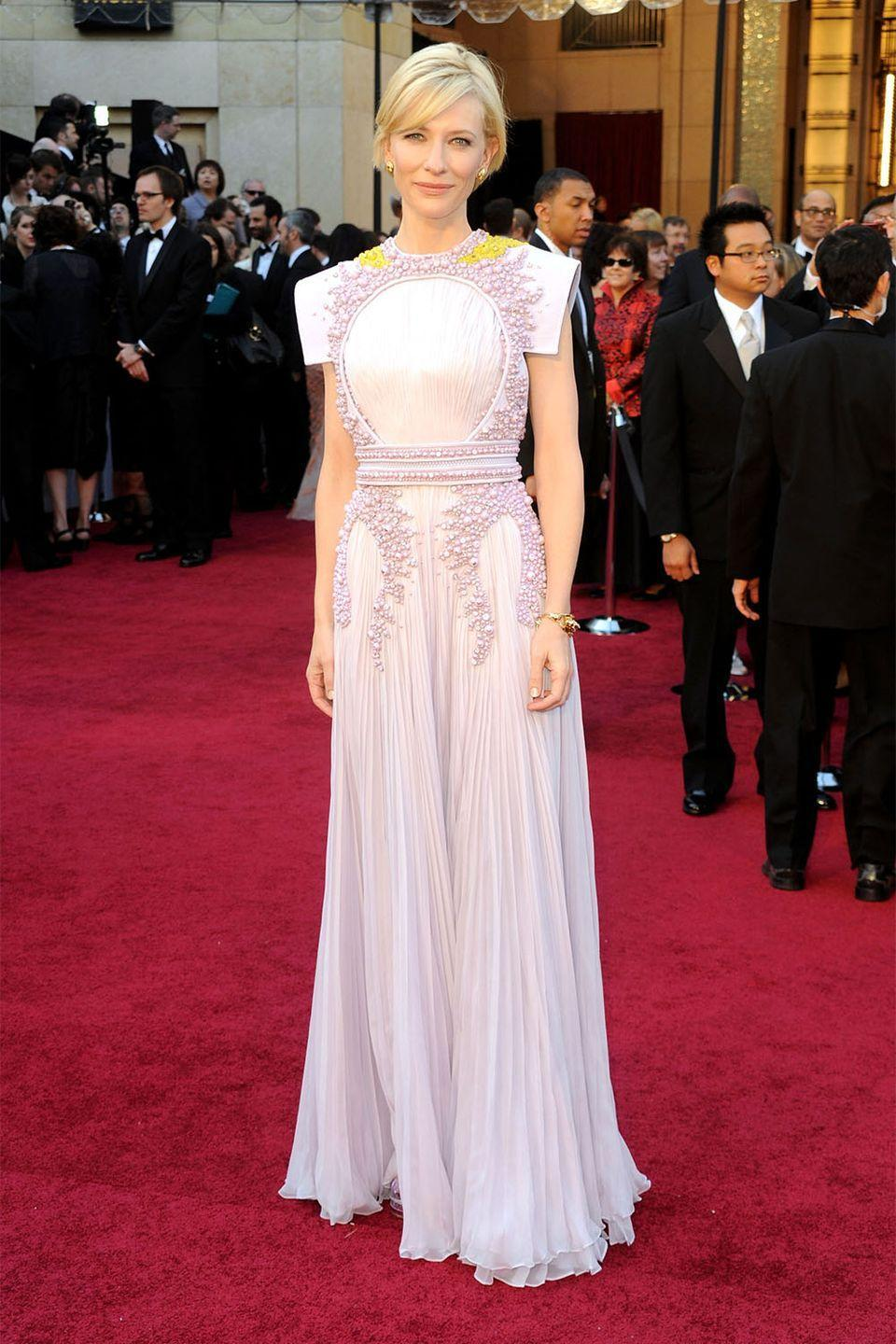 <p>Cate Blanchett is always one to take a risk on the red carpet, and she won the hearts of the fashion set in this Givenchy Haute Couture confection.</p>