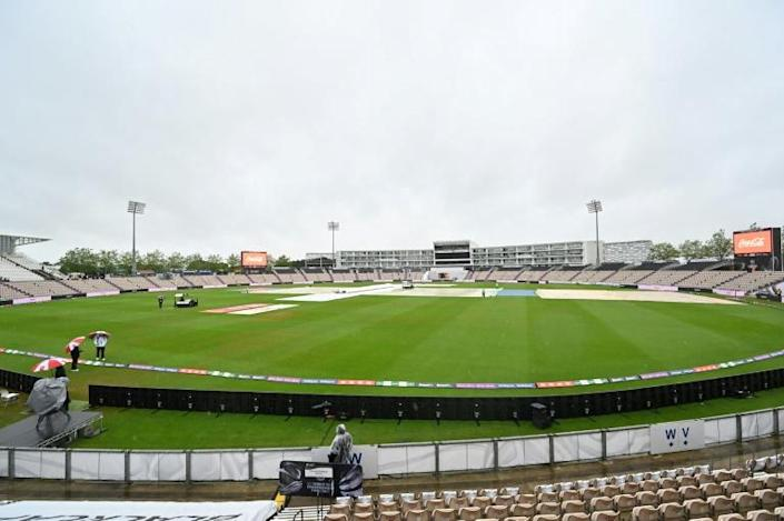Delayed start - Covers remain on the pitch on the first day of the ICC World Test Championship final between India and New Zealand and India at Southampton on Friday