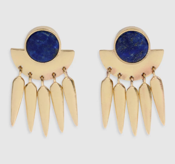 Arms Of Eve Takoma Lapis Lazuli Earrings, $120 from THE ICONIC