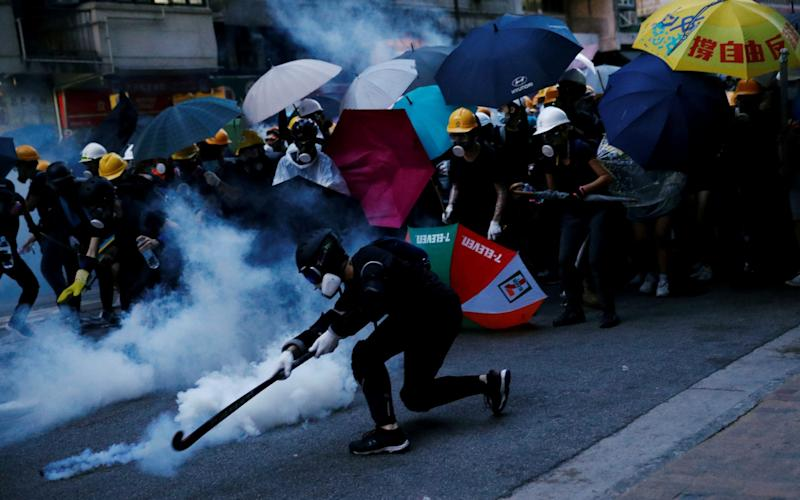 Pro-democracy protests peaked last year, leading to street battles with police and demonstrators - Edgar Su/REUTERS