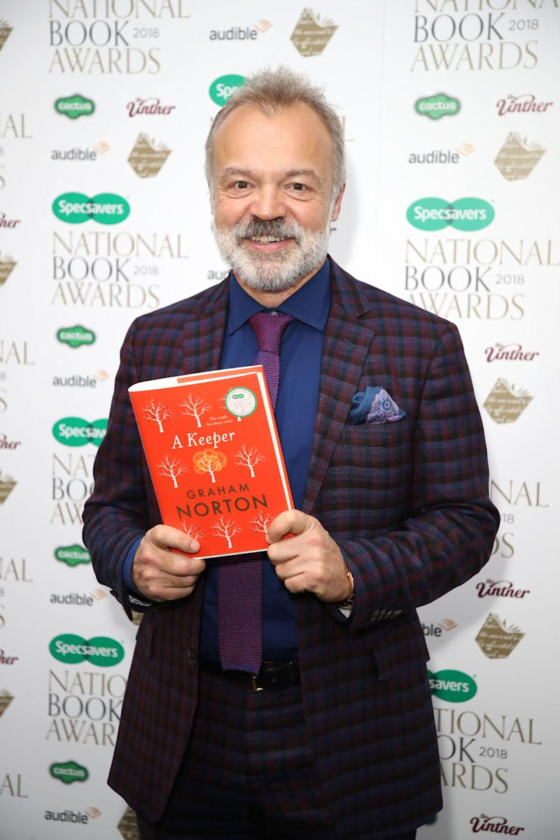 LONDON, ENGLAND - NOVEMBER 20: Graham Norton attends the National Book Awards at RIBA on November 20, 2018 in London, England. (Photo by Mike Marsland/WireImage)
