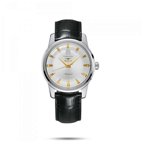 """<p><strong>Longines</strong></p><p>longines.com</p><p><strong>$2350.00</strong></p><p><a href=""""https://www.longines.com/en-us/watch-conquest-heritage-l1-645-4-75-4"""" rel=""""nofollow noopener"""" target=""""_blank"""" data-ylk=""""slk:Shop Now"""" class=""""link rapid-noclick-resp"""">Shop Now</a></p><p>""""Give dad the gift of time this Father's Day with a beautiful timepiece from Longines. Switzerland based since 1832 Longines offers a range of styles for every type of dad on his special day. You can be sure the spectacular craftsmanship will impress even the hardest to shop for.""""—<em>Dania Ortiz, Fashion & Accessories Director</em></p>"""