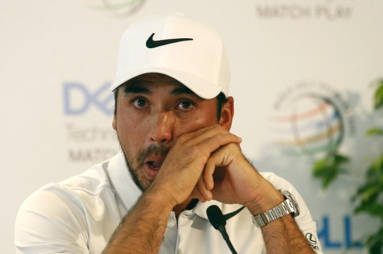 Jason Day of Australia announces withdrawal from the World Golf Championships Match Play due to illness of his mother, at the Austin Country Club in Texas, on March 22, 2017