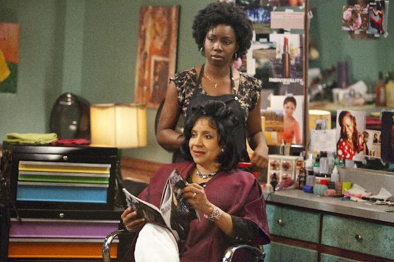 """This undated image released by Lifetime shows Adepero Oduye as Annelle and Phylicia Rashad as Clariee in a scene from the Lifetime Original Movie, """"Steel Magnolias,"""" premiering Sunday, Oct. 7, at 9pm on Lifetime. (AP Photo/Lifetime, Annette Brown)"""