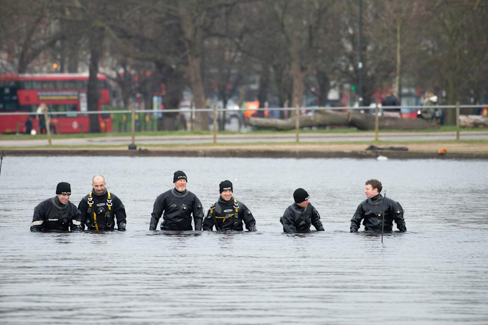 Police searched Clapham Common as part of the search for Everard. (SWNS)