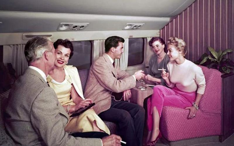 Smoking on a plane – it was once the norm - Airline Ratings Historical Collection