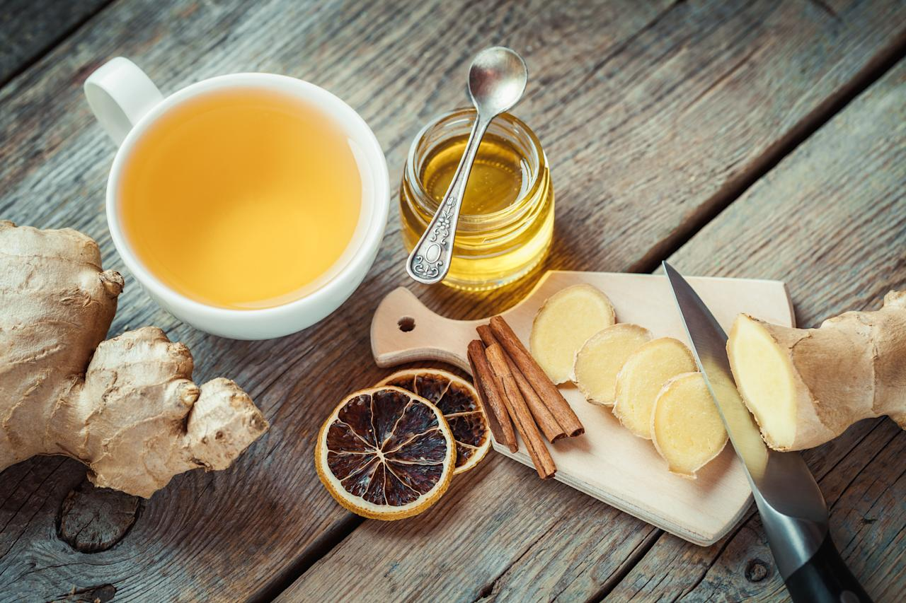 "<p>Look no further for a remedy which Dr Emeka guarantees will make you feel a whole load better.<br /><br />According to the 24-year-old, ""Ginger tea is great at soothing the stomach. It also speeds up alcohol digestion and it can even help your throbbing head.""<br /><br /><strong>Ingredients</strong><strong><br /></strong>12 large ginger slices<br />A dash of lemon<br />1/2 cup of honey<br />Fresh orange juice<br />4 cups of boiling water<br /><br /><em>[Photo: Getty]</em> </p>"