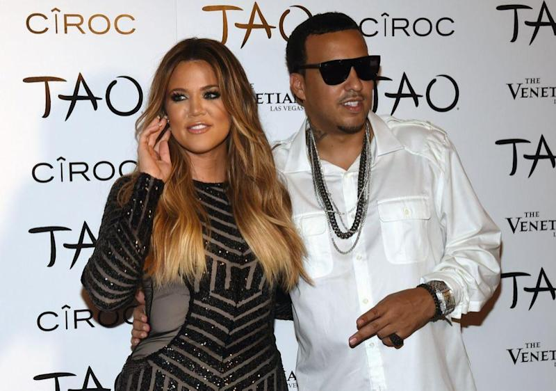 Khloe Kardashian and French Montana in July 2014. Source: Getty