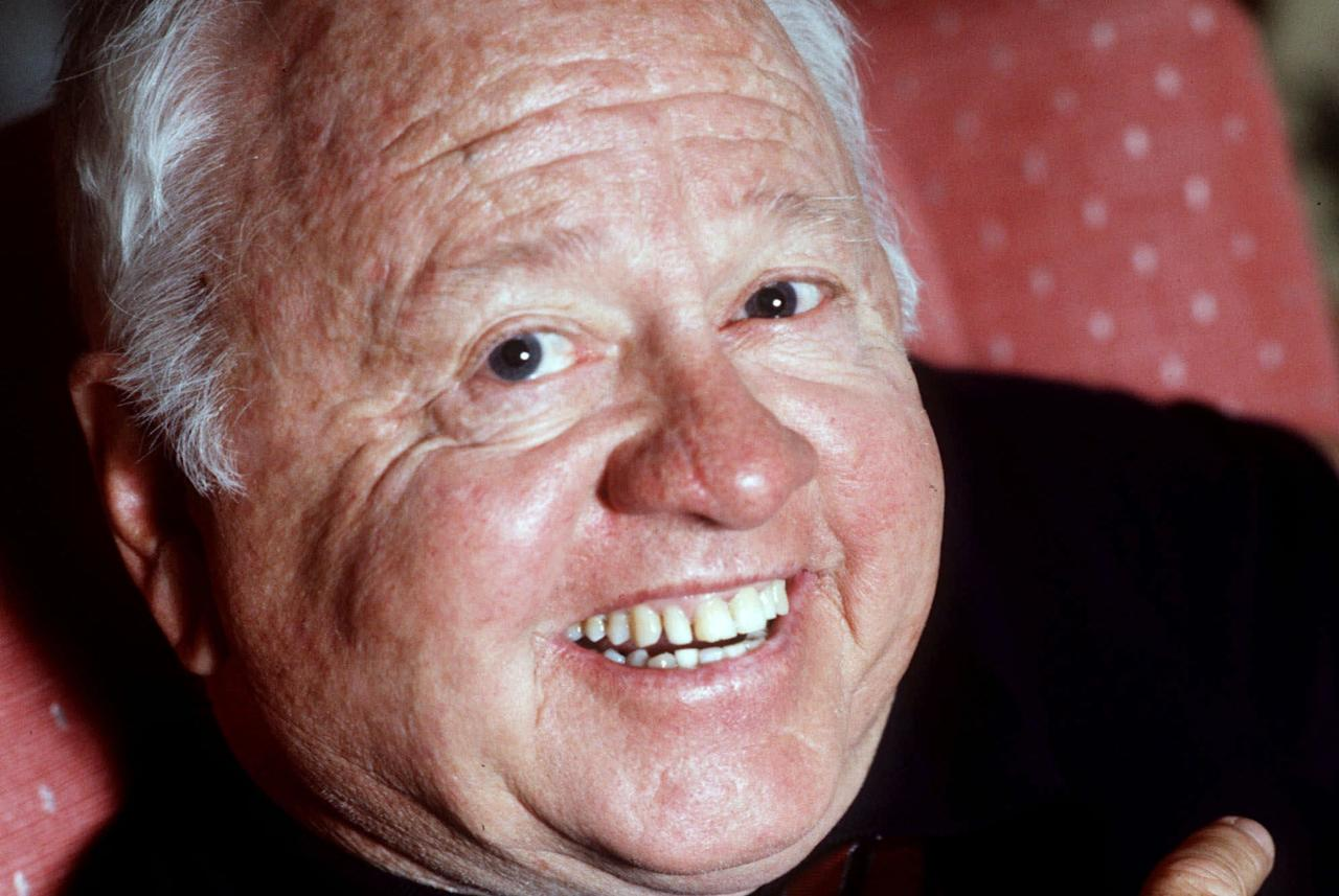 FILE - Entertainer Mickey Rooney is shown in this May 1987 file photo. Rooney, a Hollywood legend whose career spanned more than 80 years, has died. He was 93. Los Angeles Police Commander Andrew Smith said that Rooney was with his family when he died Sunday, April 6, 2014, at his North Hollywood home. (AP Photo/File)