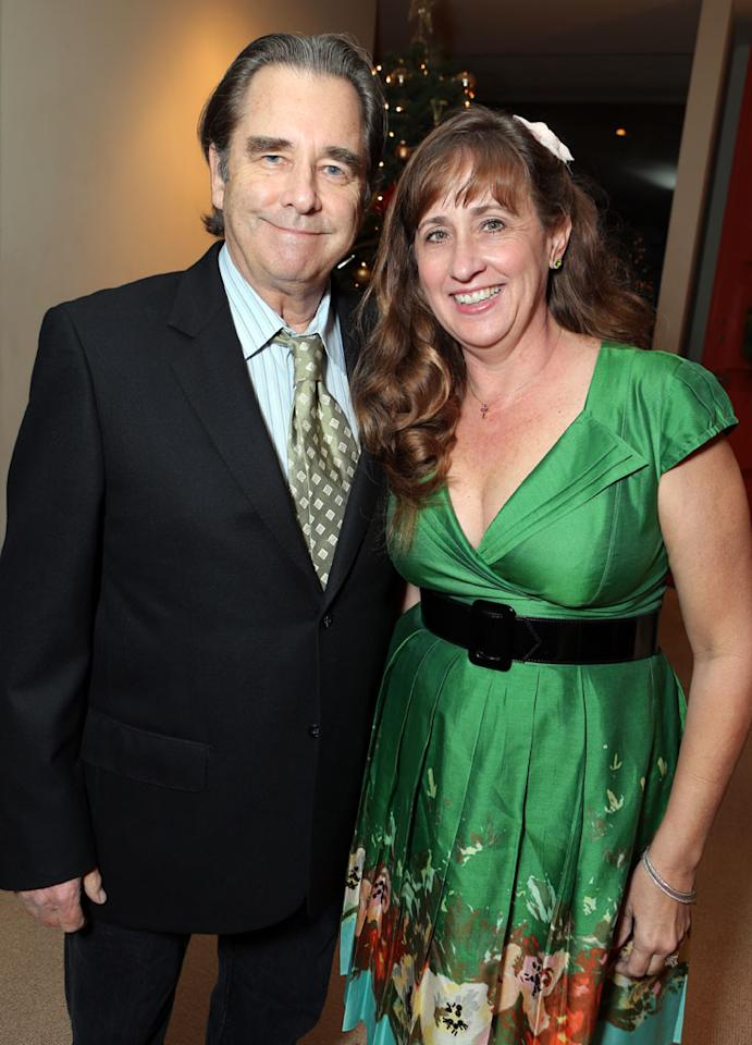 Beau Bridges and Wendy Treece at Showtime's 7th Annual Holiday Soiree on December 3, 2012 in Beverly Hills, California.