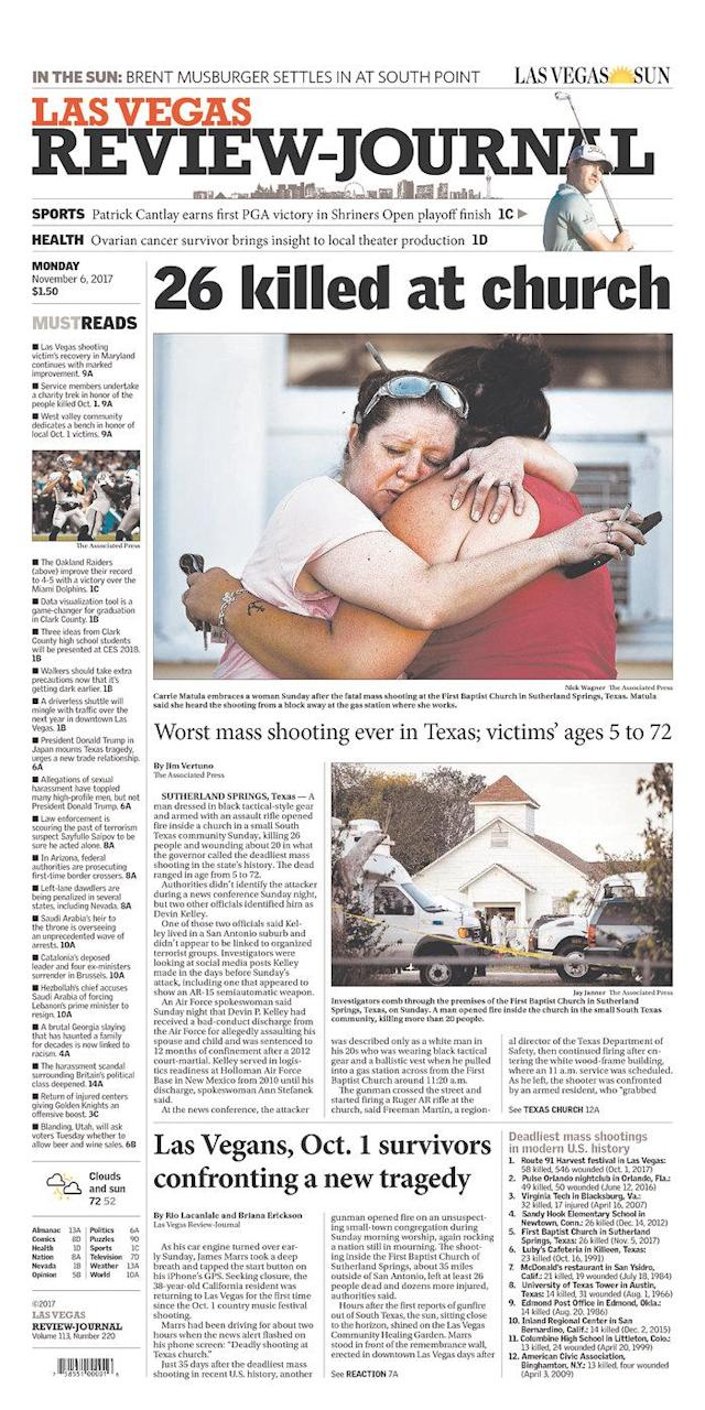 <p>LAS VEGAS REVIEW-JOURNAL<br> Published in Las Vegas, Nev. USA. (newseum.org) </p>