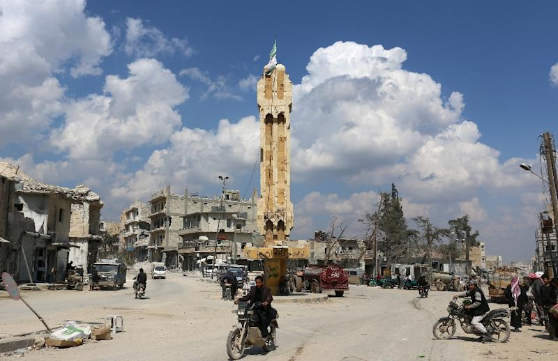 The registry in the town of Al-Bab was destroyed by the Islamic State group (AFP Photo/Zein Al RIFAI)