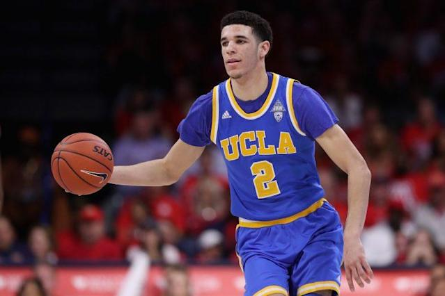 UCLA PG Lonzo Ball can make noise for both his team and his future this month. (Getty)