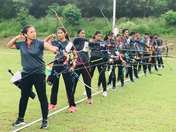 Indian archers while training