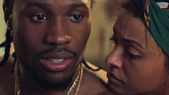 """Shameik Moore and Kat Graham in RZA's """"Cut Throat City."""" <span class=""""copyright"""">(Well Go USA)</span>"""