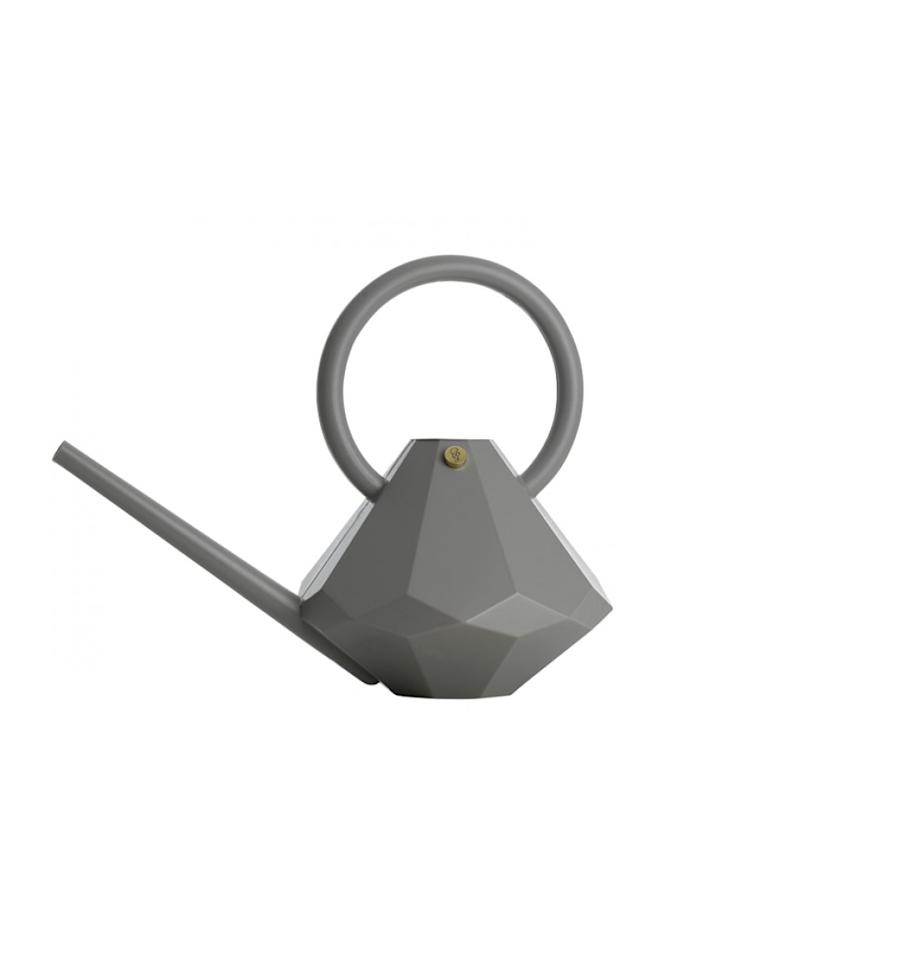 """<p>A chic, contemporary pick for any type of aesthete, this form-blown, diamond-inspired gray watering can is the ultimate outdoor showpiece. (It will be a welcome upgrade to the strictly utilitarian watering cans most gardeners are puttering around with.) Not only is it fancy, but it's ultra-functional too: Made of durable (and easy-to-wipe-clean) plastic, this vessel holds up to eight liters of water at a time. But let's be honest: It's the elegant design that makes it such a sure to please gift. With a sleek spout, faceted base, and rounded handle, this watering can is a gorgeously graphic addition to any gardener's domain.<br /> <br /> <strong>To buy:</strong> $110;<a rel=""""nofollow"""" href=""""http://jungleeny.com/grace-diamond-watering-can.html""""> jungleeny.com</a>.</p>"""