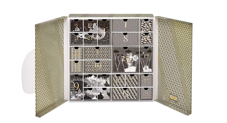 """<p>Sure, Diptyque's advent calendar comes in at a cool £320 but with 25 miniature scented candles and perfumes behind its doors – who could resist? Available online <a href=""""http://www.selfridges.com/GB/en/cat/diptyque-advent-calendar_342-2000170-XM18ADVENT/?cm_mmc=PPC-_-GoogleNb-_-home-_-diptyque%20advent%20calendar&_$ja=tsid:51698%7ccid:130827656%7cagid:22984836296%7ctid:aud-60957634856:kwd-260331451287%7ccrid:302581775701%7cnw:g%7crnd:4322015927850832954%7cdvc:c%7cadp:1t1%7cmt:e%7cloc:1006886&gclid=Cj0KCQjwjbveBRDVARIsAKxH7vkmt7nLyb1dcVLoOofqBu46-_S_dWzKwxIovjIKznlzYtEbT7ob0wMaAsKTEALw_wcB&gclsrc=aw.ds&dclid=CM3ByMzSnN4CFVUa4Aod5aEHww"""" rel=""""nofollow noopener"""" target=""""_blank"""" data-ylk=""""slk:now"""" class=""""link rapid-noclick-resp"""">now</a>. </p>"""
