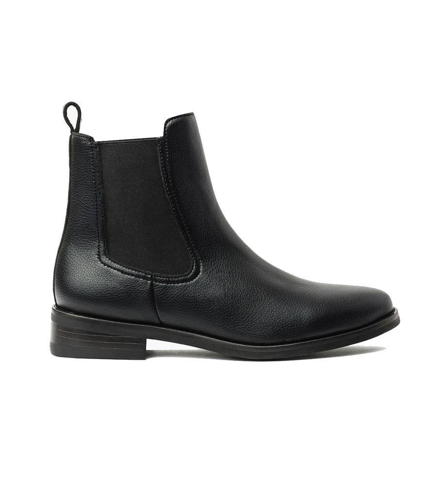 """<p>This brand offers a huge selection of boots for all types of shoppers— we especially love this sleek vegan-leather pair. <br><a href=""""https://fave.co/2zuHVC5\"""" rel=""""nofollow noopener"""" target=""""_blank"""" data-ylk=""""slk:Shop it:"""" class=""""link rapid-noclick-resp"""">Shop it: </a>Duchess Black Vegan, $160, <a href=""""https://thursdayboots.com/products/womens-duchess-chelsea-boot-black-vegan?collection=women-boots"""" rel=""""nofollow noopener"""" target=""""_blank"""" data-ylk=""""slk:thursdayboots.com"""" class=""""link rapid-noclick-resp"""">thursdayboots.com</a> </p>"""
