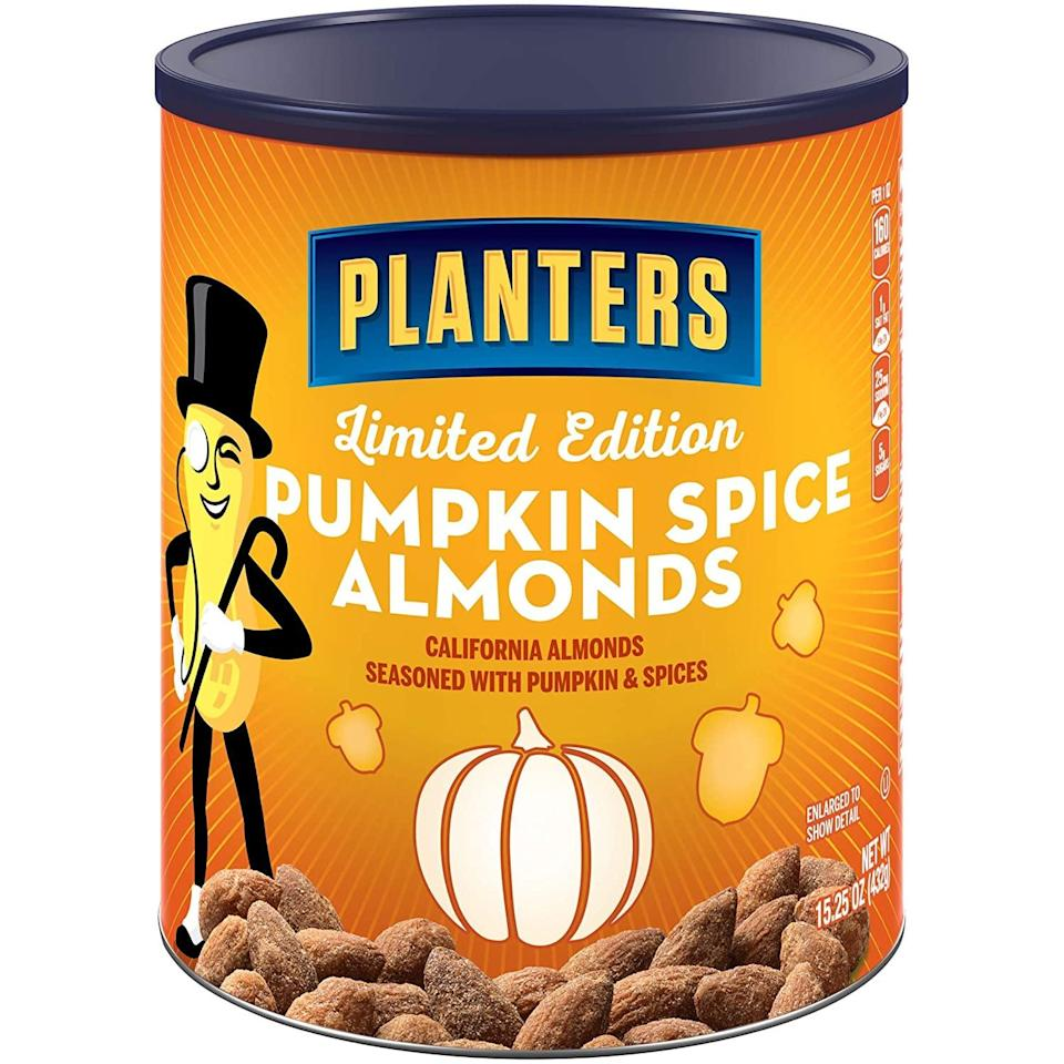 <p>These <span>Planters Pumpkin Spice Almonds</span> ($12, originally $17) look delicious. We'll be snacking on them all day long.</p>