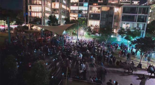 About 300 hundred players swamped a park in Rhodes. Photo: ABC