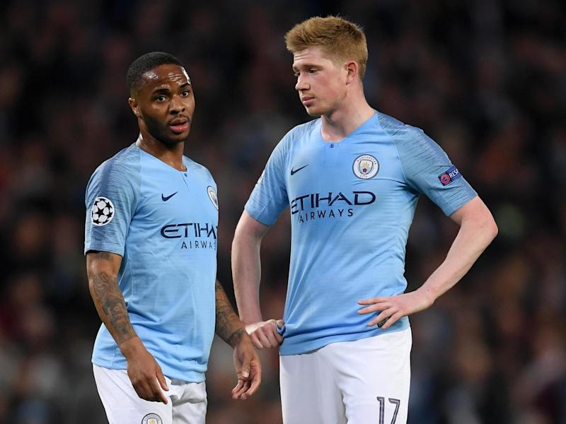Manchester City pair Raheem Sterling and Kevin De Bruyne: Getty Images