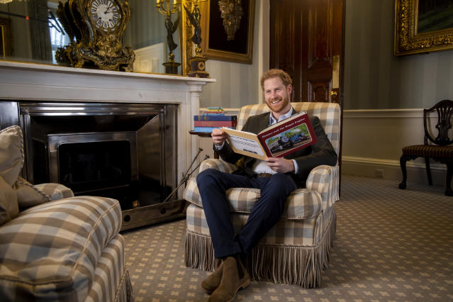 The Duke of Sussex recorded the on camera message in January. (PA/Mattel)