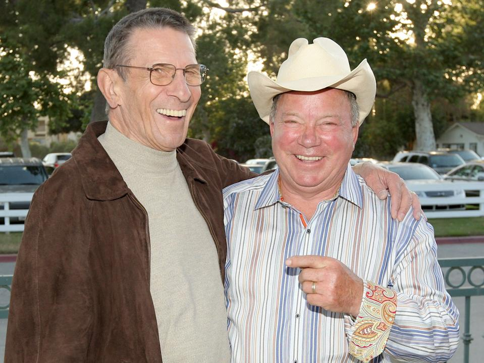 Leonard Nimoy and William Shatner in 2009.