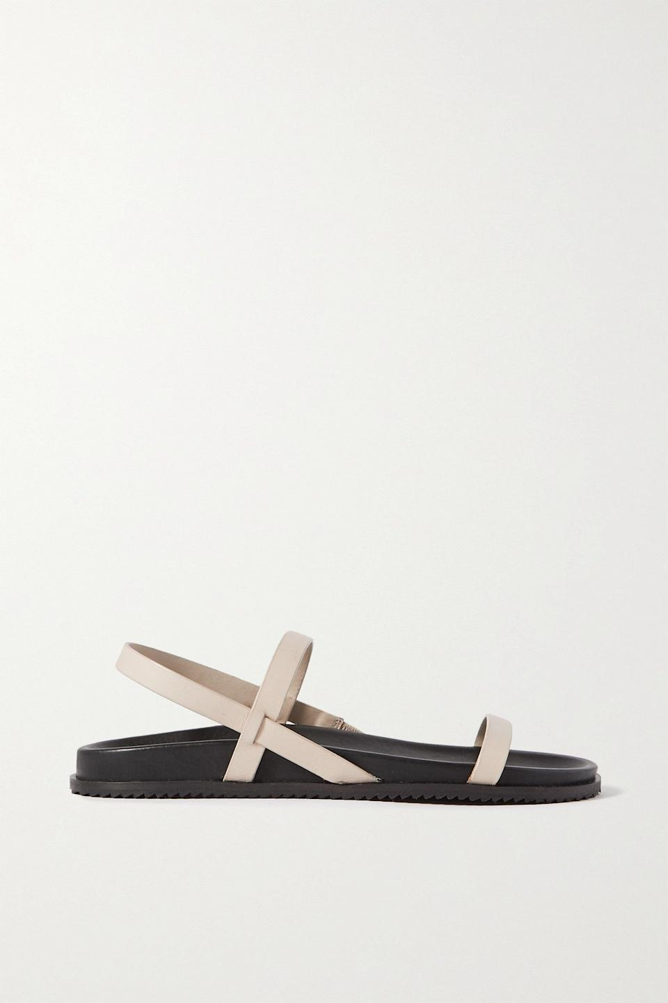 """I clicked buy so quickly on these, they are the perfect everyday sandal (alongside Birks, of course). <br><br><strong>St. Agni</strong> Gio Two-tone Leather Slingback Sandals, $, available at <a href=""""https://www.net-a-porter.com/en-gb/shop/product/st-agni/net-sustain-gio-two-tone-leather-slingback-sandals/1321491"""" rel=""""nofollow noopener"""" target=""""_blank"""" data-ylk=""""slk:Net-A-Porter"""" class=""""link rapid-noclick-resp"""">Net-A-Porter</a>"""