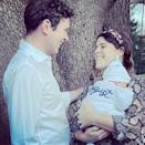 """<p>Just one day after her birthday, Eugenie posted two new pictures of her son wearing an adorable personalized outfit. </p><p><a href=""""https://www.instagram.com/p/CM0N6MuFCMz/?utm_source=ig_embed&utm_campaign=loading"""" rel=""""nofollow noopener"""" target=""""_blank"""" data-ylk=""""slk:See the original post on Instagram"""" class=""""link rapid-noclick-resp"""">See the original post on Instagram</a></p>"""