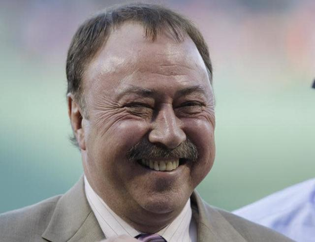 "<a class=""link rapid-noclick-resp"" href=""/mlb/teams/bos/"" data-ylk=""slk:Boston Red Sox"">Boston Red Sox</a> broadcaster Jerry Remy was sent home Saturday after being struck by a television monitor. (AP)"