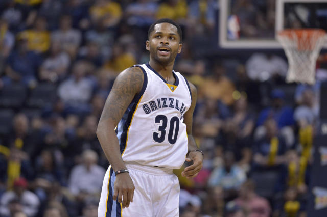 "<a class=""link rapid-noclick-resp"" href=""/nba/players/5282/"" data-ylk=""slk:Troy Daniels"">Troy Daniels</a> has played four NBA seasons. (AP)"