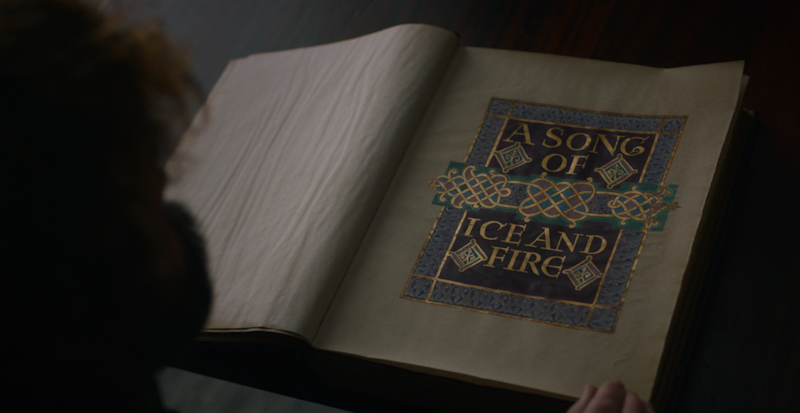 A Song of Ice and Fire on Game of Thrones.