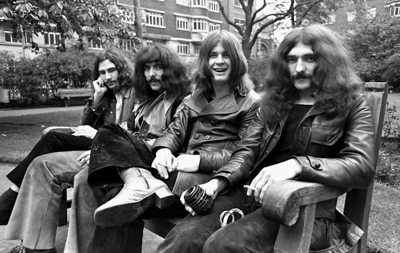 Black Sabbath, 1970: Bill Ward, Tony Iommi, Ozzy Osbourne, Geezer Butler (Photo by Chris Walter/WireImage)