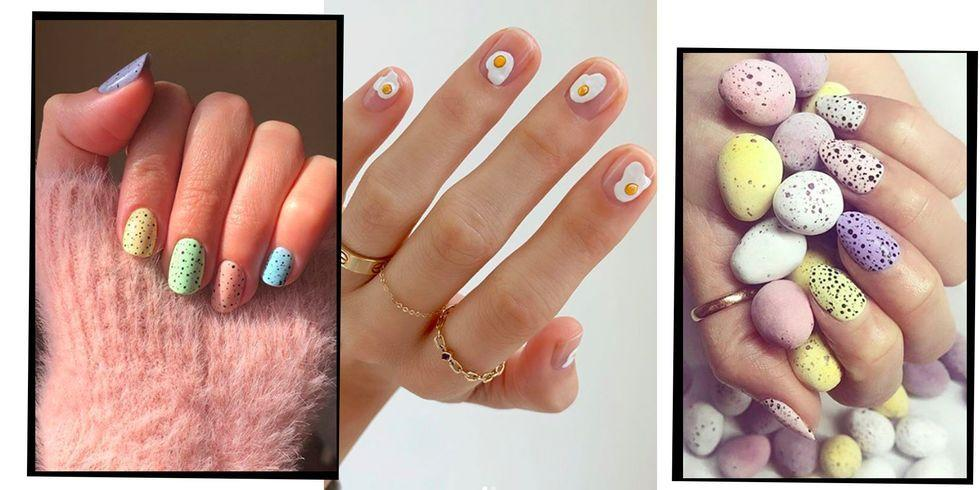 """<p>If you've given up chocolate for lent and Easter can't come soon enough, there is a way to get your sugar fix without admitting chocolate defeat: eggshell <a href=""""https://www.elle.com/uk/beauty/nails/g30640657/nail-trends/"""" target=""""_blank"""">nail art</a>.</p><p><a href=""""https://www.elle.com/uk/beauty/g30442457/pastel-makeup-trend/"""" target=""""_blank"""">Pastels</a> were seen everywhere backstage at the SS20 shows, but the internet has taken it a step further (as per) by turning to the chocolate giant Cadbury's for inspiration. We're talking mini eggs people. </p><p>As if we're not consuming enough chocolate eggs by the bucket load already, the pastel shades with the added speckled eggshell effect is the ideal Easter <a href=""""https://www.elle.com/uk/beauty/nails/g22590169/best-nail-salon-manicure/"""" target=""""_blank"""">manicure</a> trend, with a loving ode to mini eggs. </p><p>We've rounded up the best eggshell nail art inspo pictures for you to take to the nail salon this chocolate egg season.Just remember to keep nibbling to a minimum...</p>"""