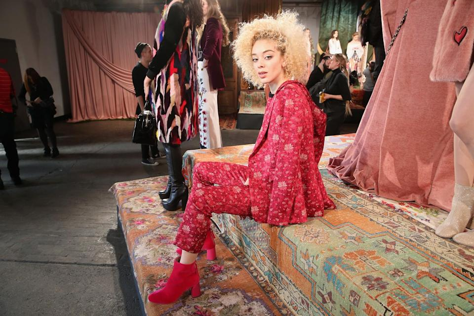 <p>Crazy blonde manes? Perfect for Fashion Week. (Photo: Getty Images) </p>