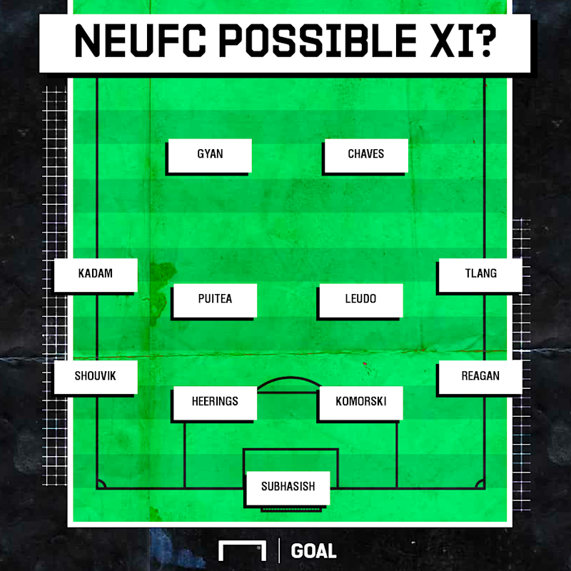 NEUFC possible XI