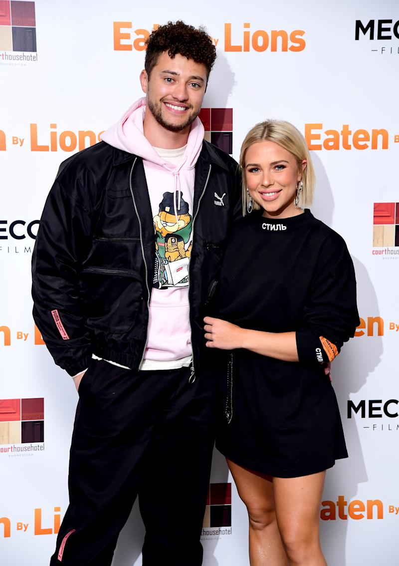 Myles Stephenson and Gabby Allen attending the Eaten by Lions Premiere held at The Courthouse Hotel in London. (Photo by Ian West/PA Images via Getty Images)