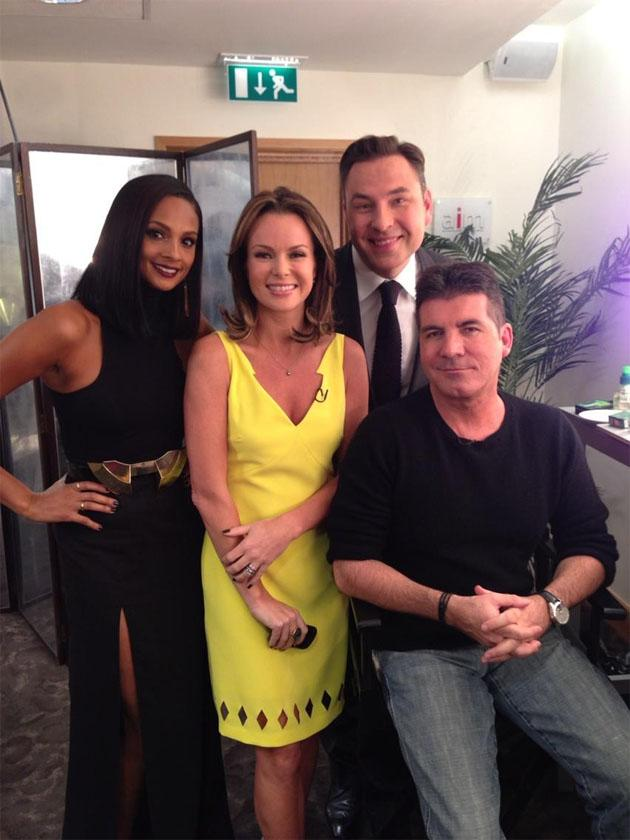 "Celebrity Twitpics: The Britain's Got Talent auditions kicked off again this week. All four of the judges from last year's series are returning, with David Walliams tweeting this photo of them backstage. He tweeted the photo alongside the caption: ""We're back."""