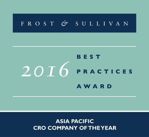 QuintilesIMS honored as 2016 Frost & Sullivan Asia Pacific CRO Company of the Year. (Photo: Business ...
