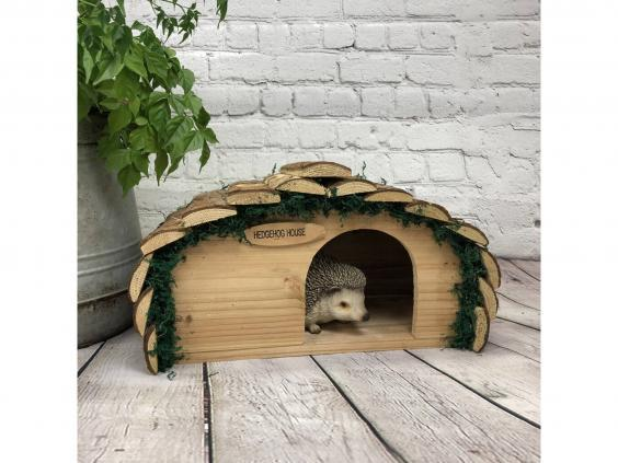 Keep hedgehogs protected from predators like foxes with this outdoor home (Not On The High Street)