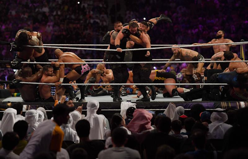 World Wrestling Entertainment (WWE) en Arabia Saudí. (AMER HILABI/AFP via Getty Images)