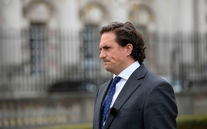 The former veterans minister Johnny Mercer outside Laganside Courts in Belfast at the start of the trial of Soldier A and Soldier C - Mark Marlow/PA