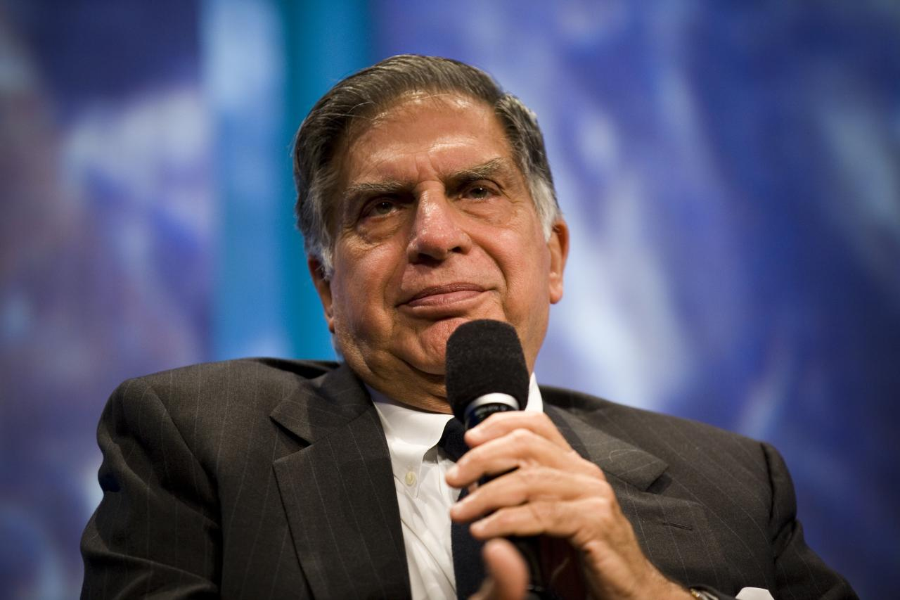 "NEW YORK, NY - SEPTEMBER 23:  Ratan N. Tata, Chairman of Tata Sons, listens during a panel called ""Enhancing Access to Modern Technology"" during the annual Clinton Global Initiative (CGI) on September 23, 2010 in New York City. The sixth annual meeting of the CGI gathers prominent individuals in politics, business, science, academics, religion and entertainment to discuss global issues such as climate change and the reconstruction of Haiti. The event, founded by Clinton after he left office, is held the same week as the General Assembly at the United Nations, when most world leaders are in New York City.  (Photo by Brian Harkin/Getty Images)"