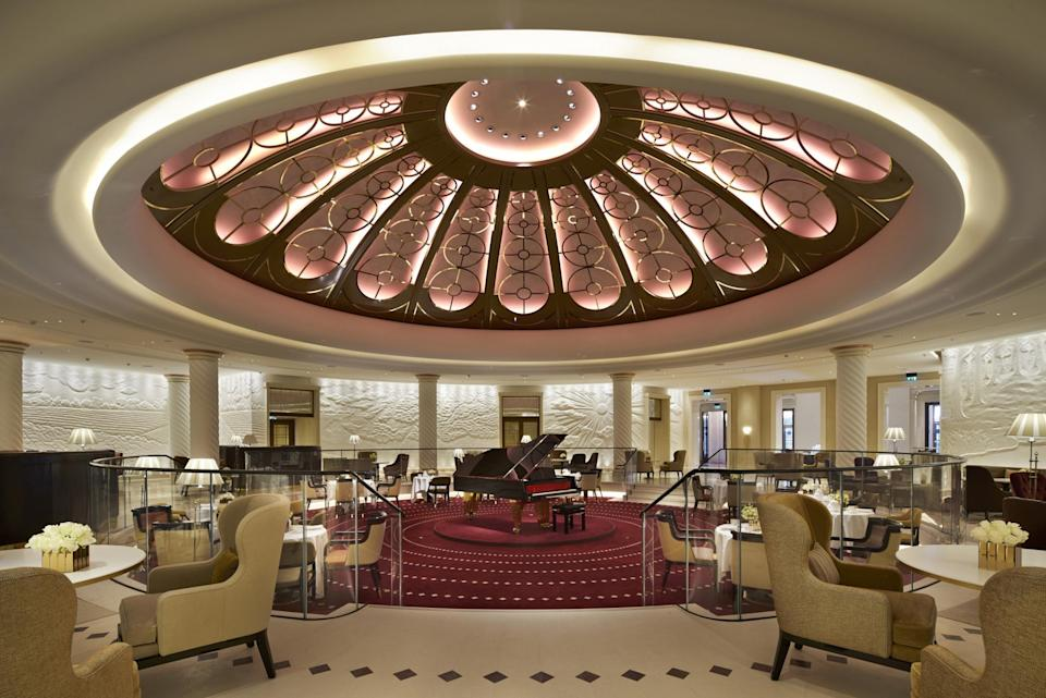 The Art Deco Rotunda is just one impressive design feature of Four Seasons Ten Trinity Square