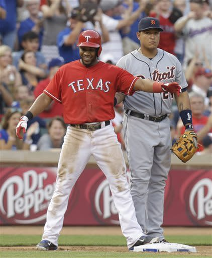 Andrus has 5 hits in Texas' 7-2 win over Detroit