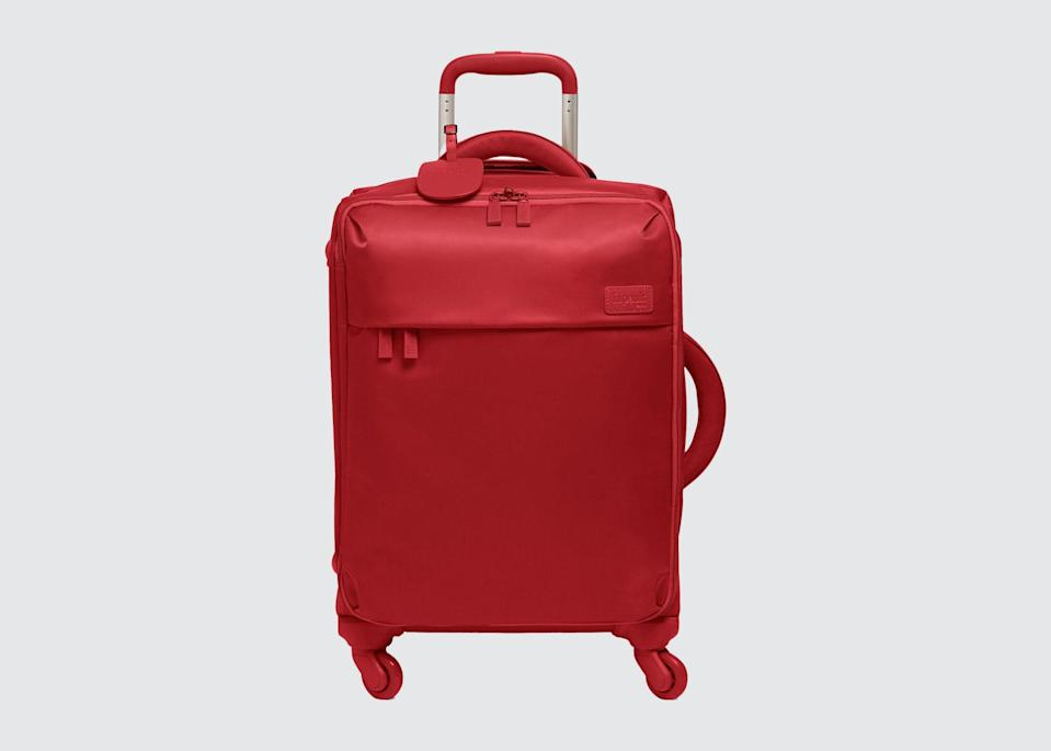 "<p>""I love my tiny, lightweight carry-on from Lipault. It has wheels, is soft-sided, and can squeeze into most overhead compartments."" <em>—Mary Celeste Beall, owner,</em> <a href=""https://www.cntraveler.com/hotels/united-states/walland/blackberry-farm--great-smoky-mountains?mbid=synd_yahoo_rss"" rel=""nofollow noopener"" target=""_blank"" data-ylk=""slk:Blackberry Farm"" class=""link rapid-noclick-resp""><em>Blackberry Farm</em></a></p> <p><strong>Shop now:</strong> <a href=""https://www.lipault-usa.com/luggage/carry-on-luggage"" rel=""nofollow noopener"" target=""_blank"" data-ylk=""slk:lipault-usa.com"" class=""link rapid-noclick-resp"">lipault-usa.com</a></p>"