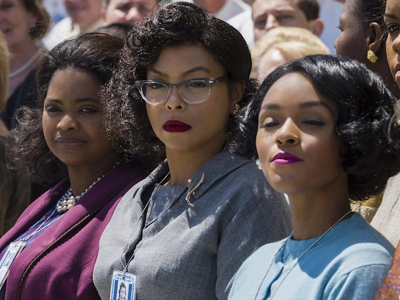 Octavia Spencer as Dorothy Vaughan, Taraji P Henson as Katherine Johnson and Janelle Monae as Mary Jackson star in the critically acclaimed film about three talented mathematicians: Fox