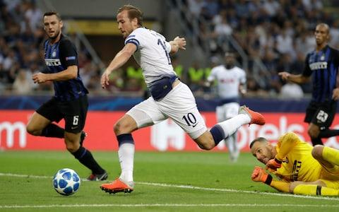 Kane couldn't convert Tottenham's clearest first-half chance - Credit: AP