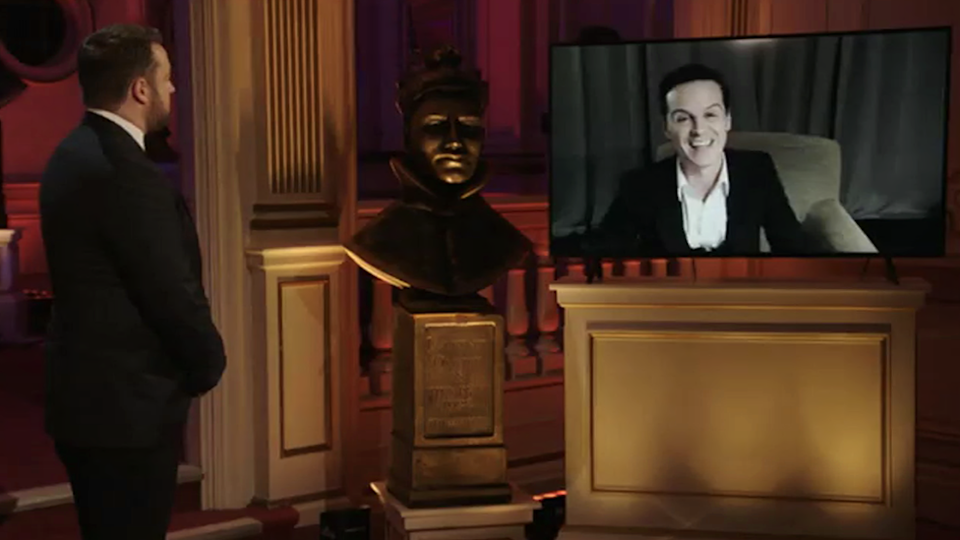 Jason Manford and Andrew Scott at the Olivier Awards