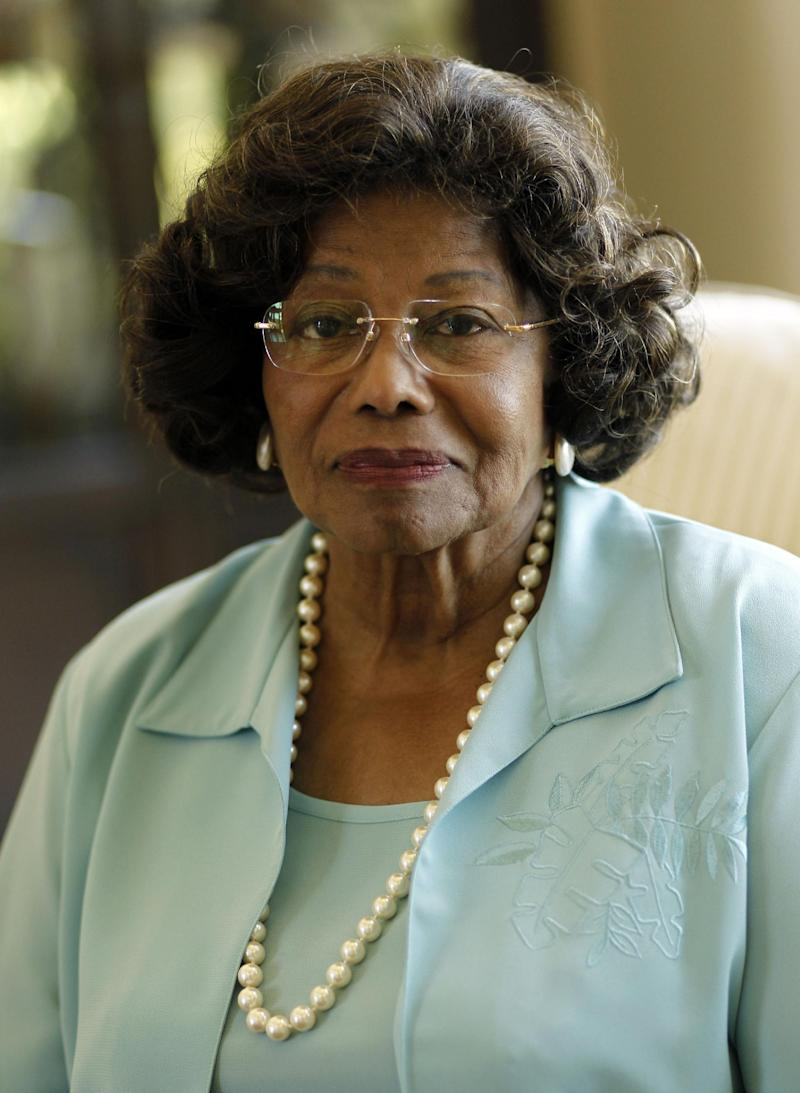 FILE - In this April 27, 2011 file photo, Katherine Jackson poses for a portrait in Calabasas, Calif. Direct questioning of potential jurors will begin on Monday April 15, 2013 in Katherine Jackson's civil trial against concert giant AEG Live. Dozens of potential jurors will be asked about their responses to a lengthy written questionnaire assessing their knowledge of Michael Jackson's life, death and whether they can sit on a case in which plaintiff's attorneys may ask for billions of dollars in damages. (AP Photo/Matt Sayles, File)